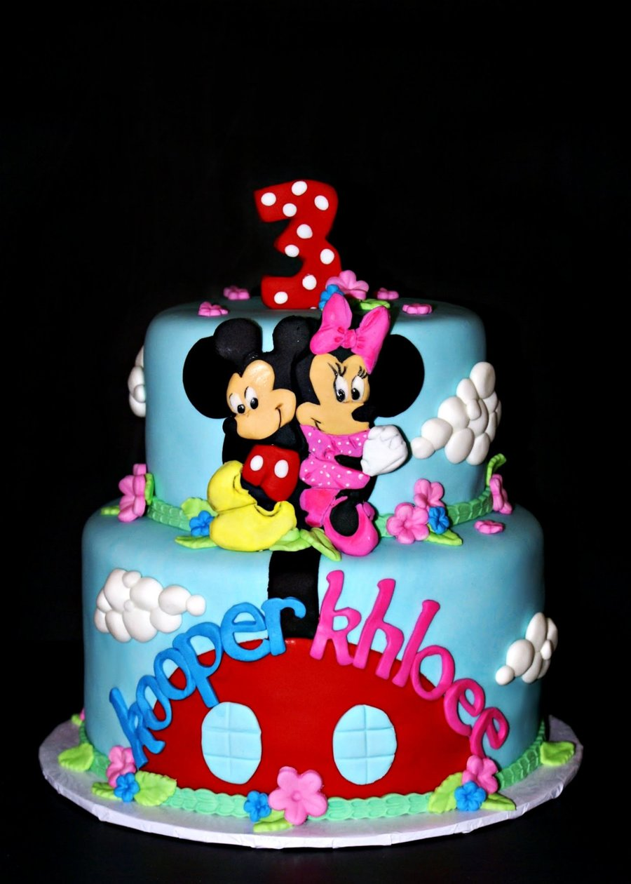Mickey And Minnie Twin Birthday Cakecentral