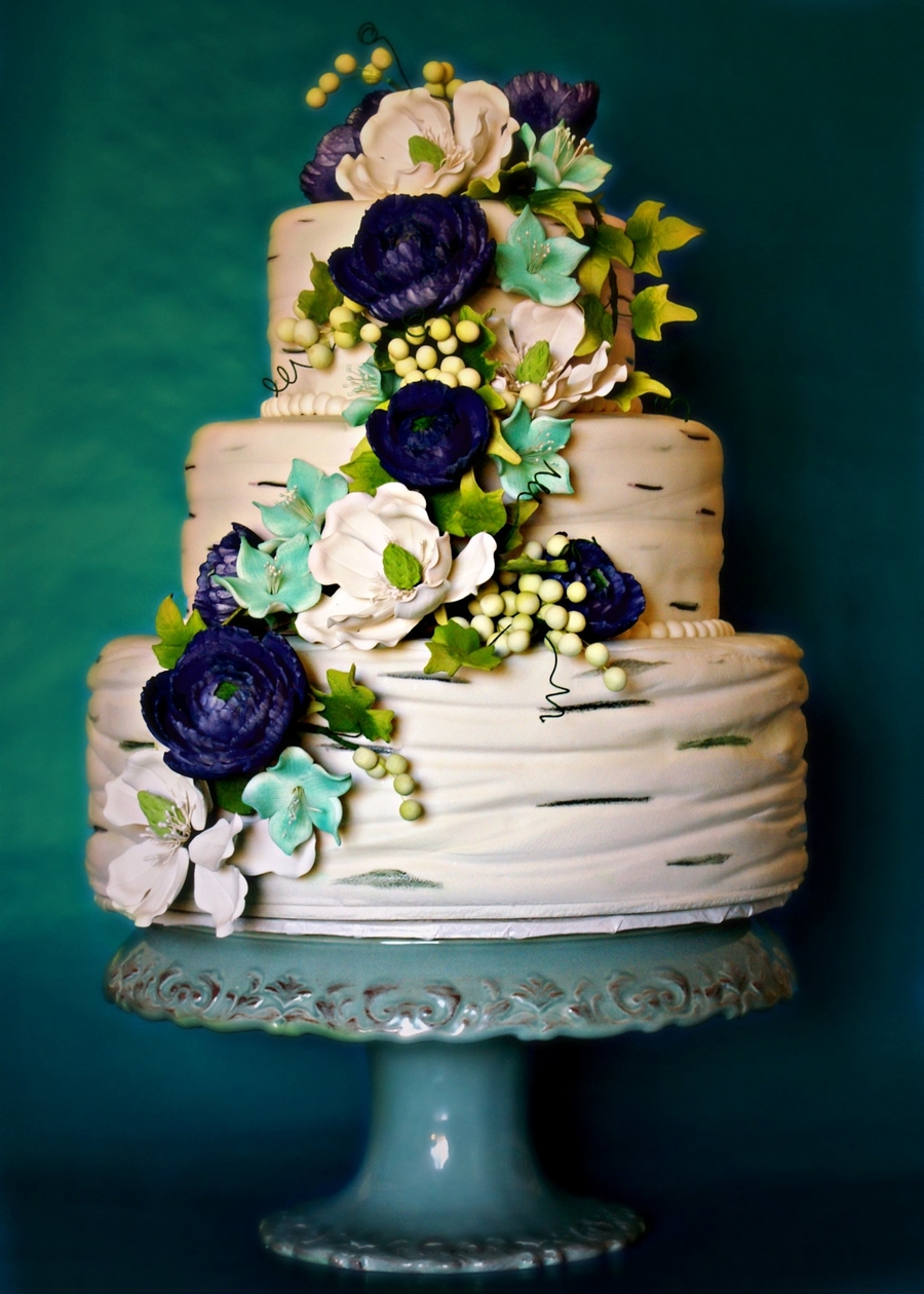 Ranunculus Wedding Cake on Cake Central