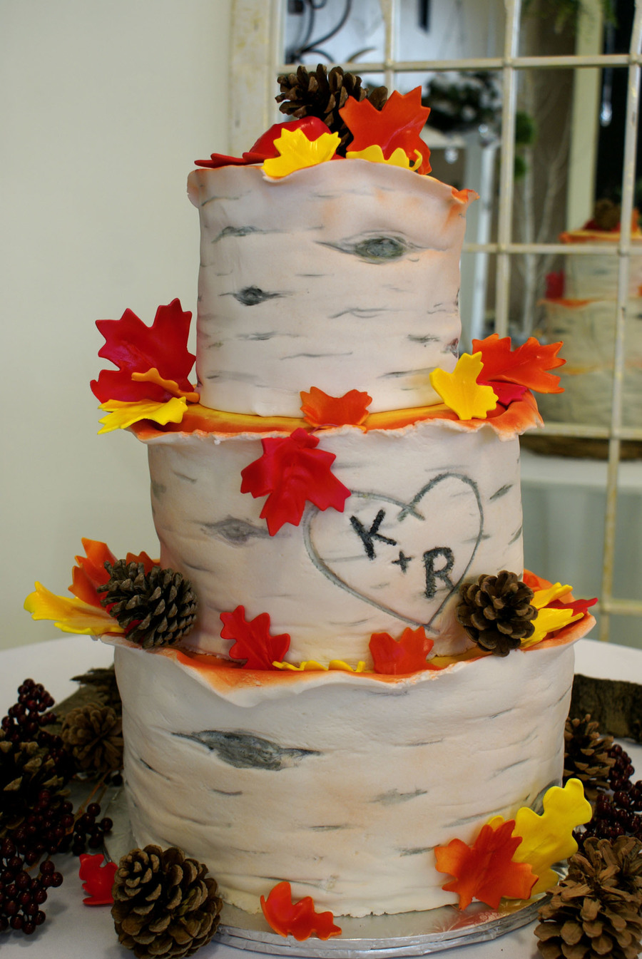 Autumn Wedding on Cake Central