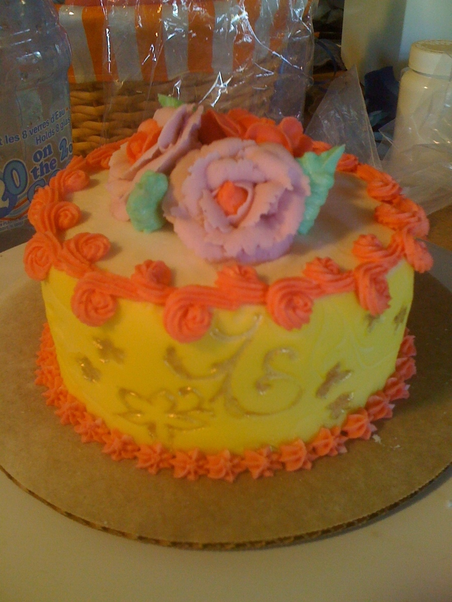 Yellow Rose on Cake Central