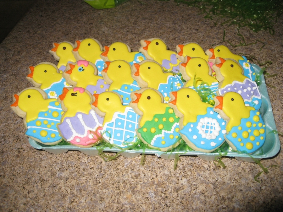 Easter Chick Cookies  on Cake Central