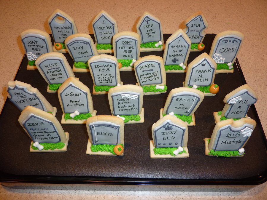 Tombstone Cookies  on Cake Central