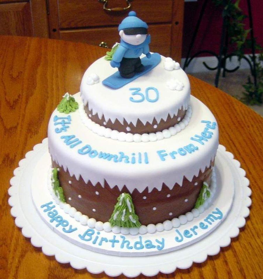 Snowboarding Cake Cakecentral Com