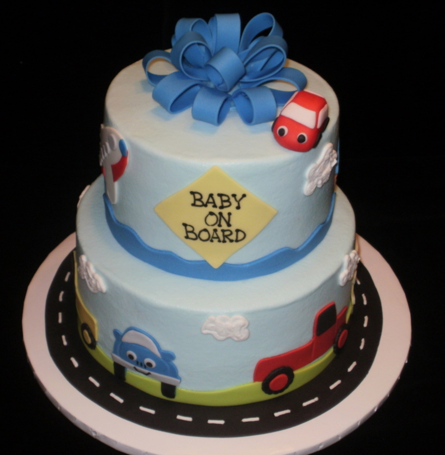 Transportation Themed Baby Shower Cakecentral Com