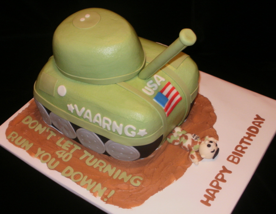 Turning 40 Tank  on Cake Central