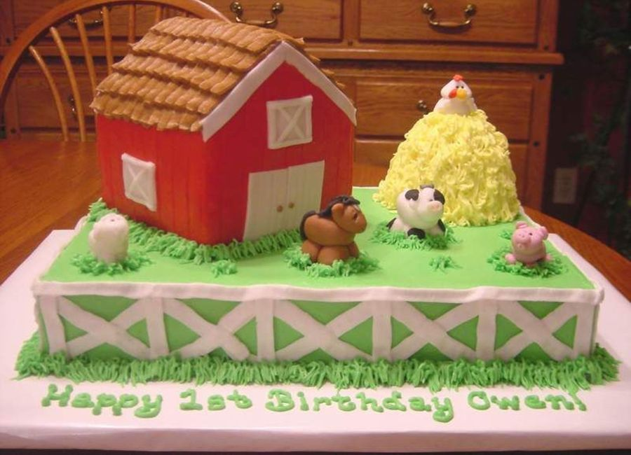 1St Birthday Farm Cake on Cake Central