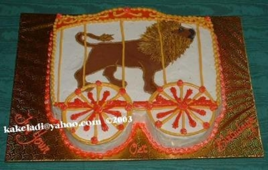 Circus Lion Cage on Cake Central