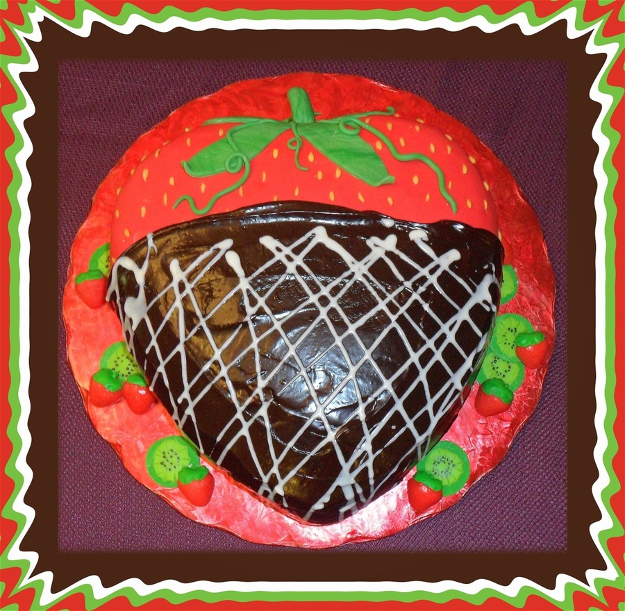 Chocolate Covered Strawberry on Cake Central