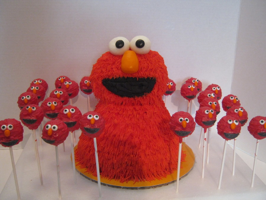 Elmo Cake & Cake Pops on Cake Central