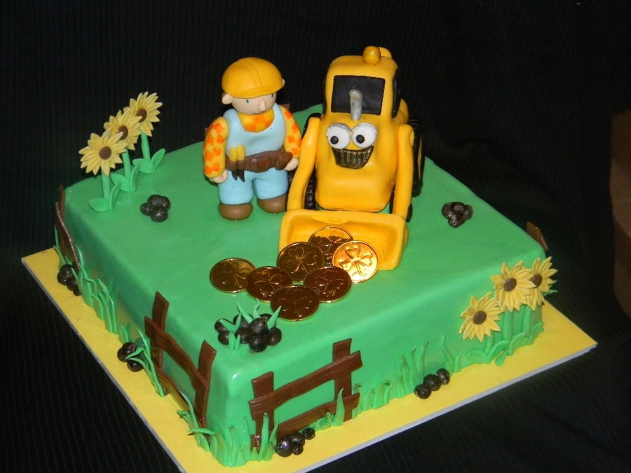 Peachy Bob The Builder Cakecentral Com Funny Birthday Cards Online Elaedamsfinfo
