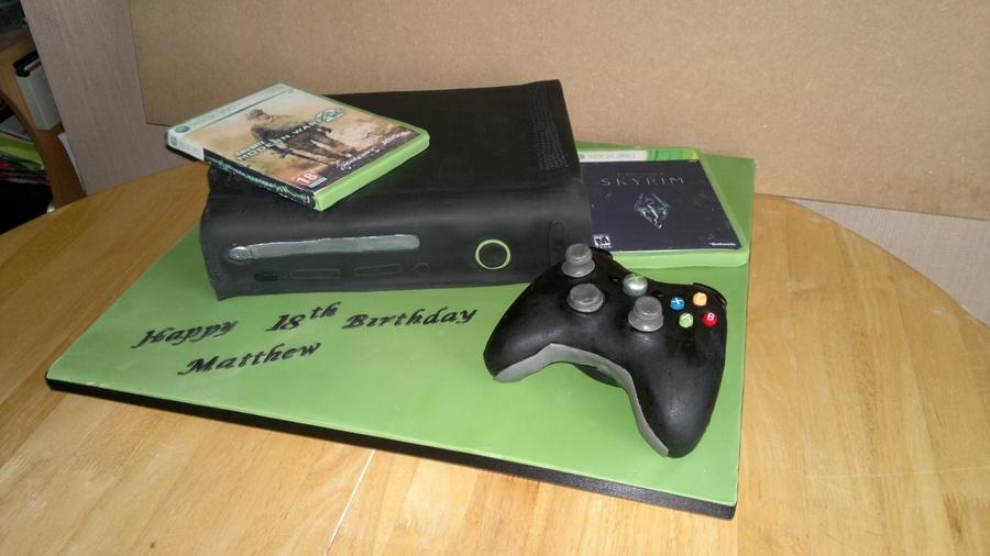 Black Xbox Cake Cakecentral Com