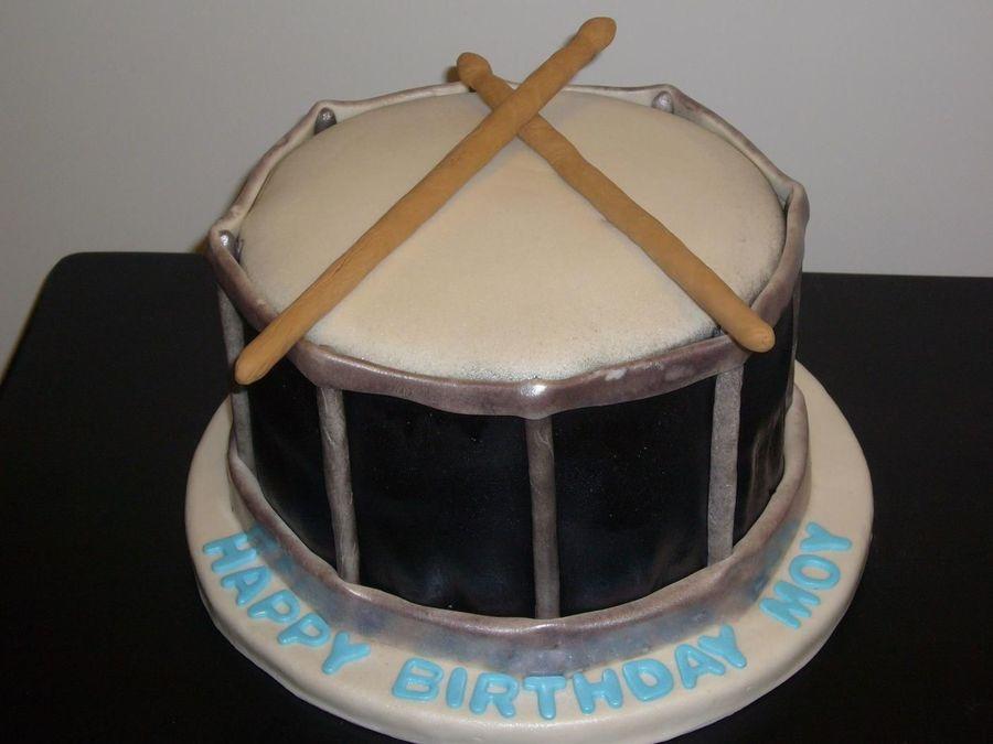 Drum Shaped Cake Cakecentral Com