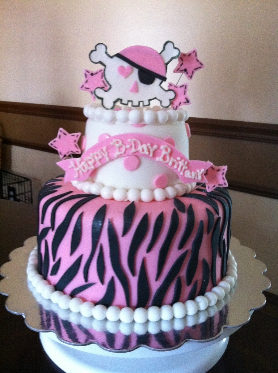 Girly Skull Birthday Cakes