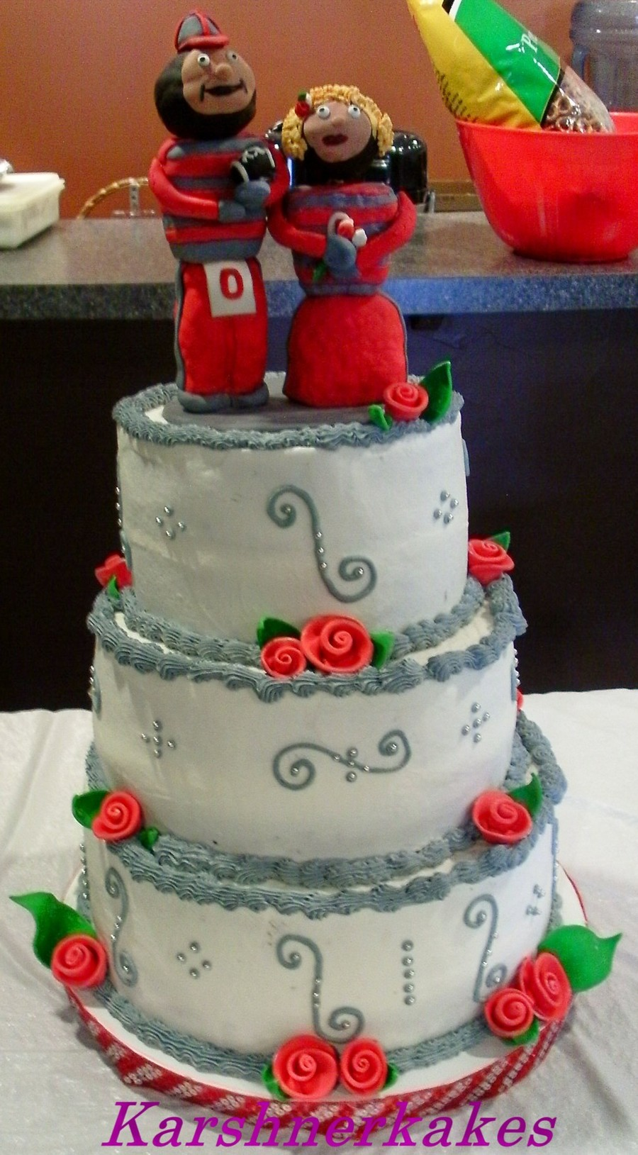 Brutus And Mrs Brutus Buckeye Wedding on Cake Central