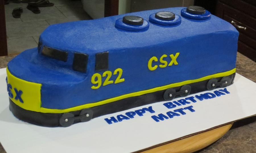 Csx Train Birthday Cake on Cake Central