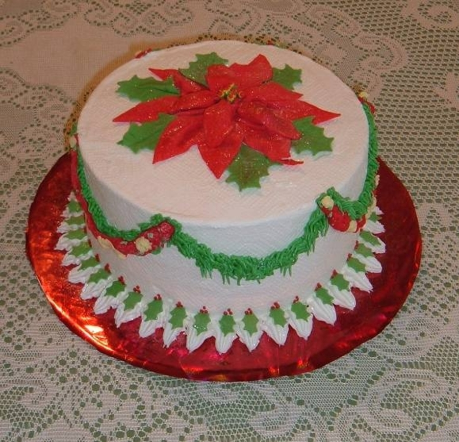 Poinsettia on Cake Central