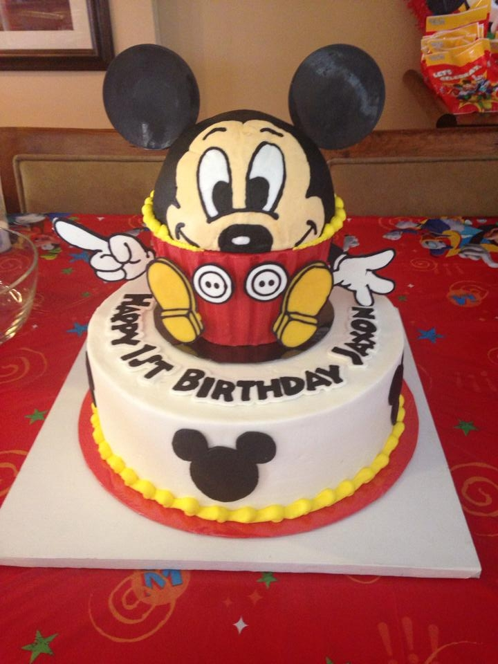 My First 3D Cake Mickey Mouse CakeCentralcom
