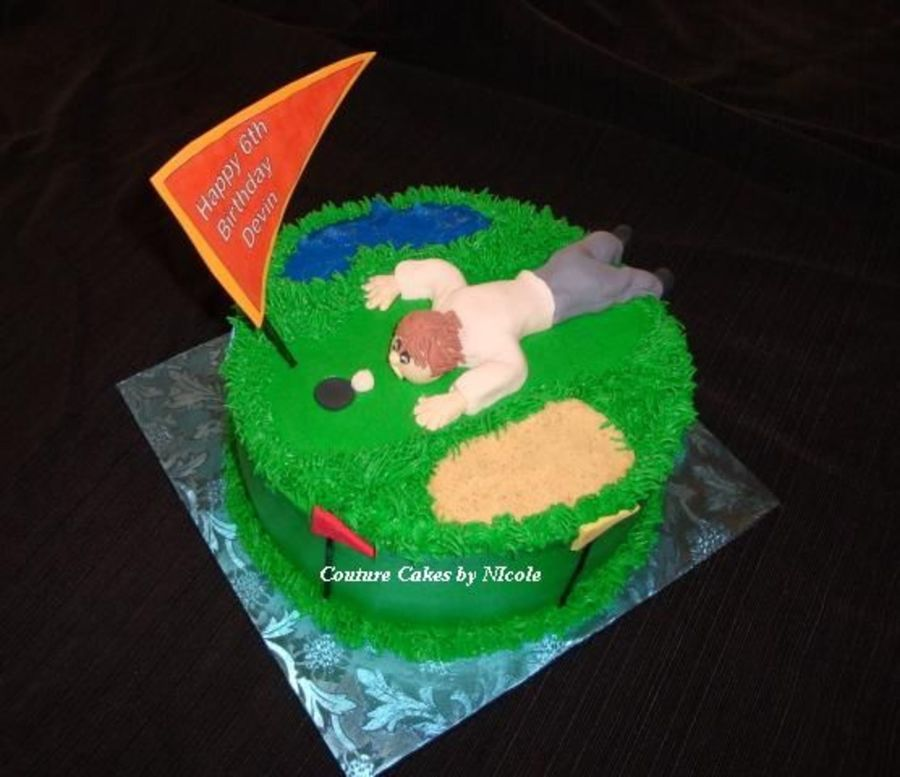 Mini Golf Cake CakeCentralcom