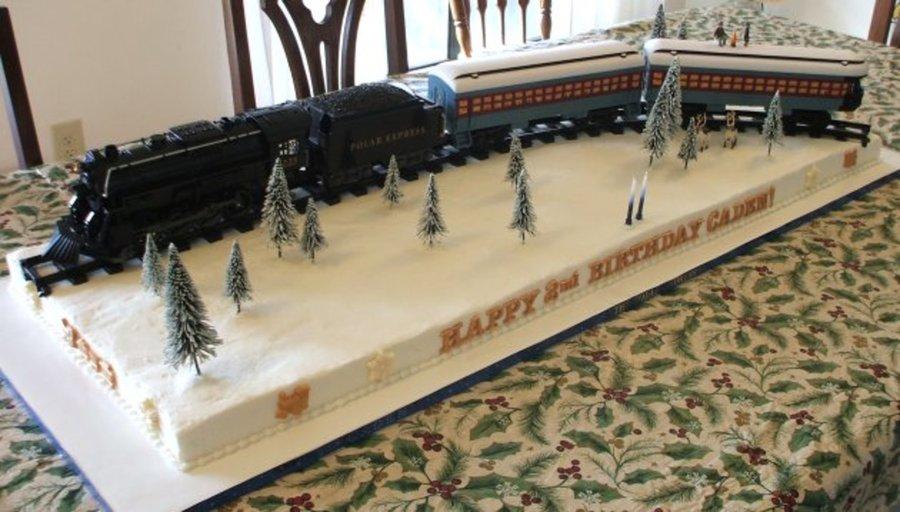 Astounding Cadens Polar Express Cakecentral Com Funny Birthday Cards Online Fluifree Goldxyz