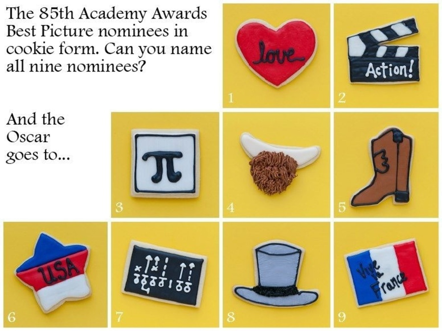 Oscars Best Picture Cookies!  on Cake Central