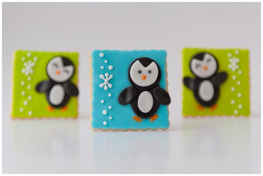 Happy Penguins! on Cake Central