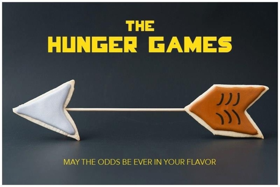 Hunger Games Arrow Cookies. on Cake Central
