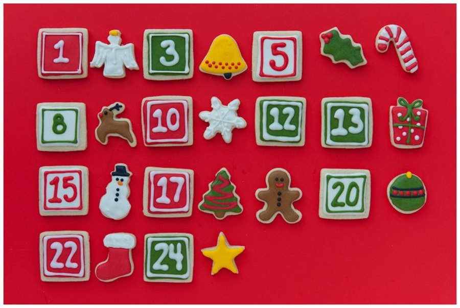 Advent Calendar Cookies on Cake Central