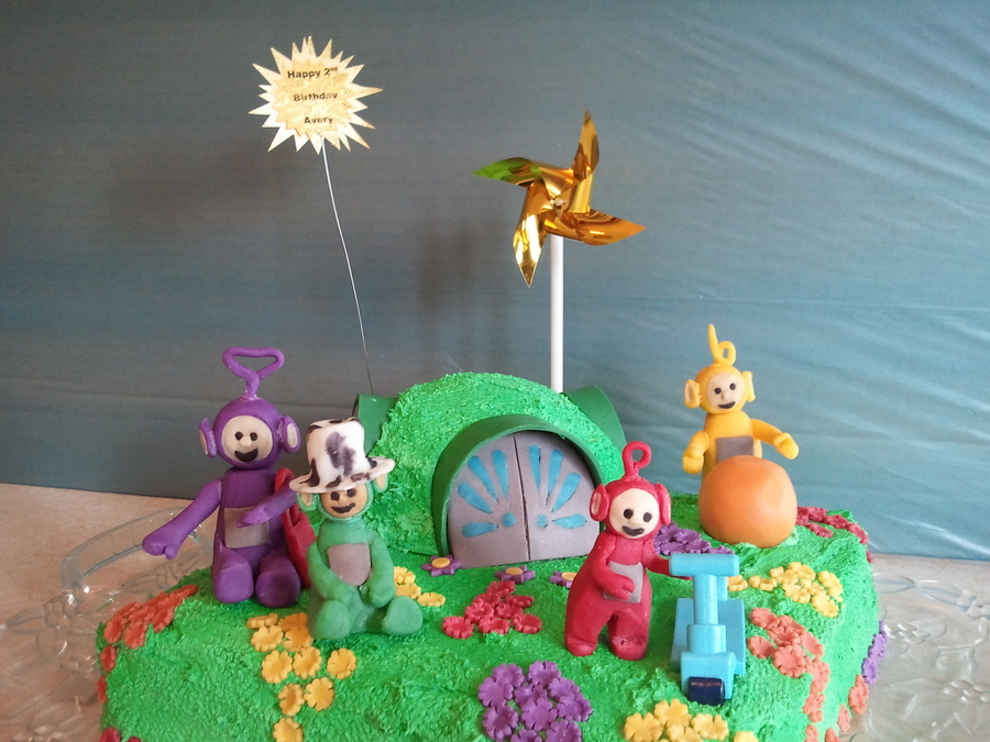Amazing Teletubbies Cake For My Grandsons 2Nd Birthday Modeling Chocolate Birthday Cards Printable Nowaargucafe Filternl