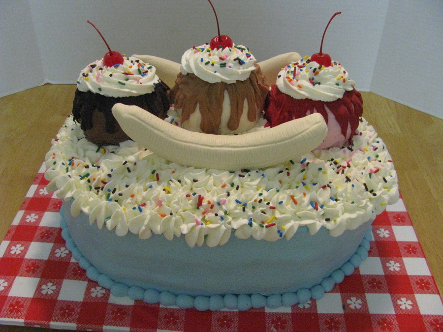 Banana Split Cake on Cake Central