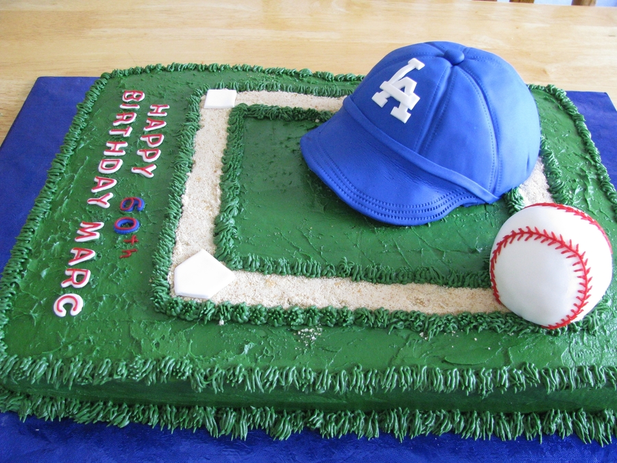 La Dodgers Baseball on Cake Central