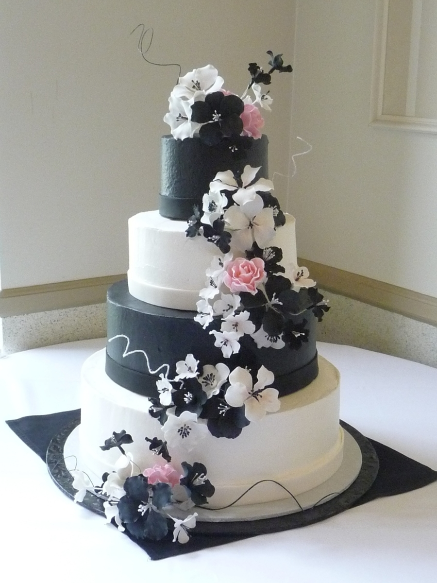 Black And White Wedding on Cake Central
