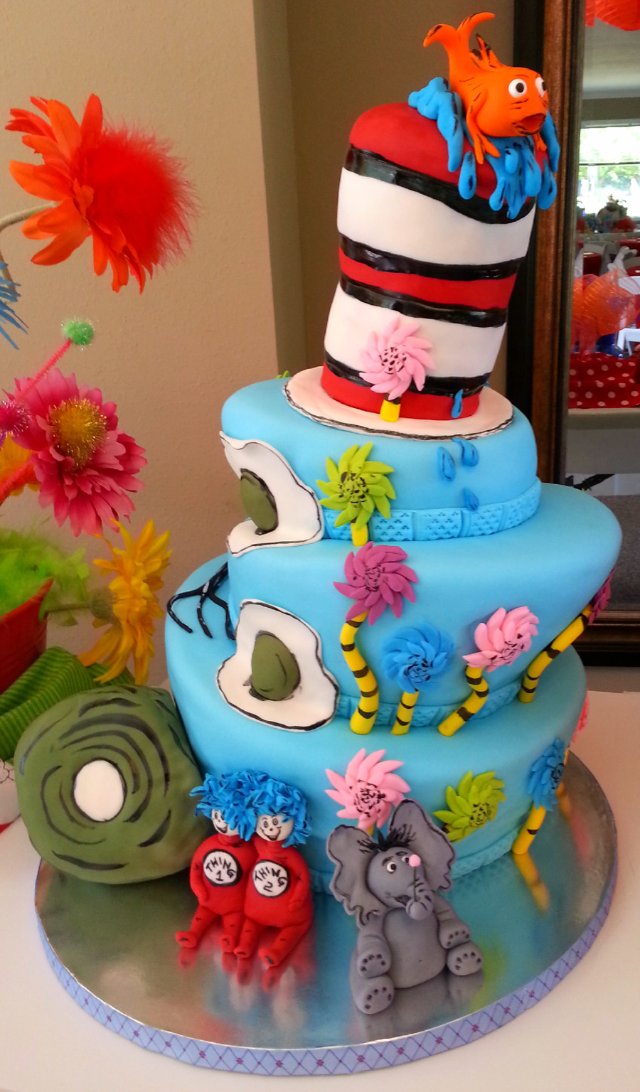 Dr Seuss Cake All Decorations Made Of Fondant