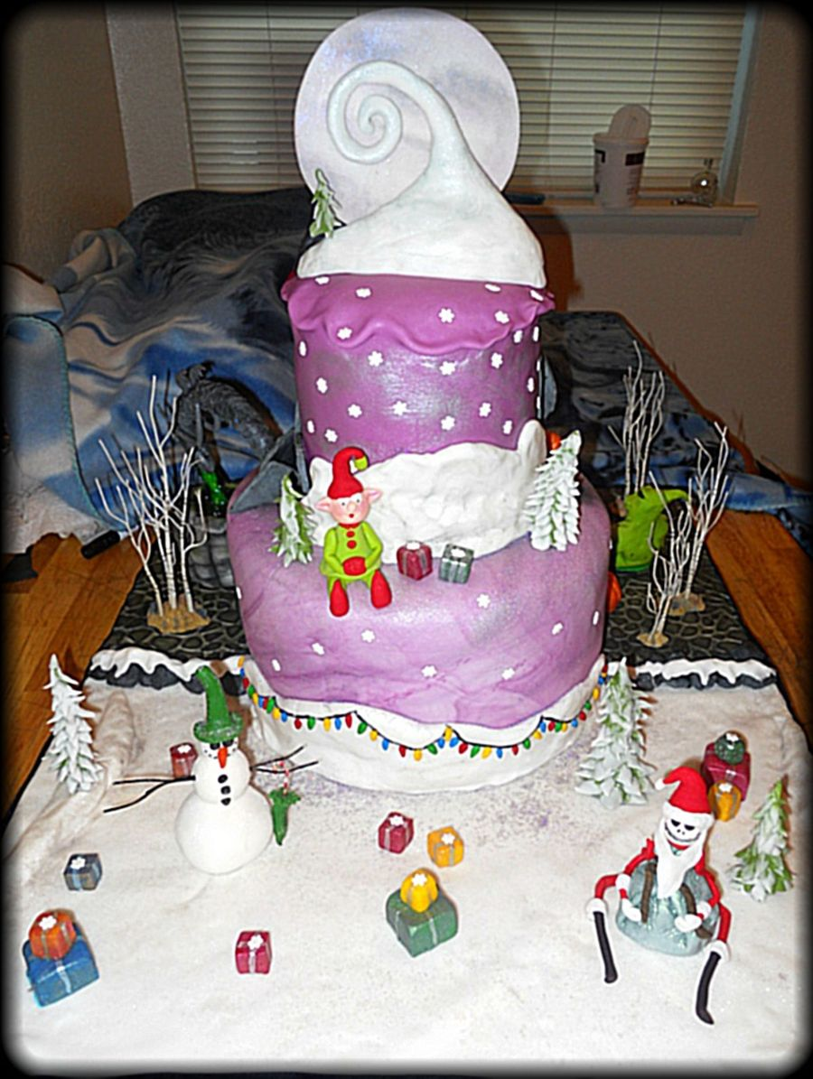 nightmare before christmas cake nightmare before cakecentral 6164