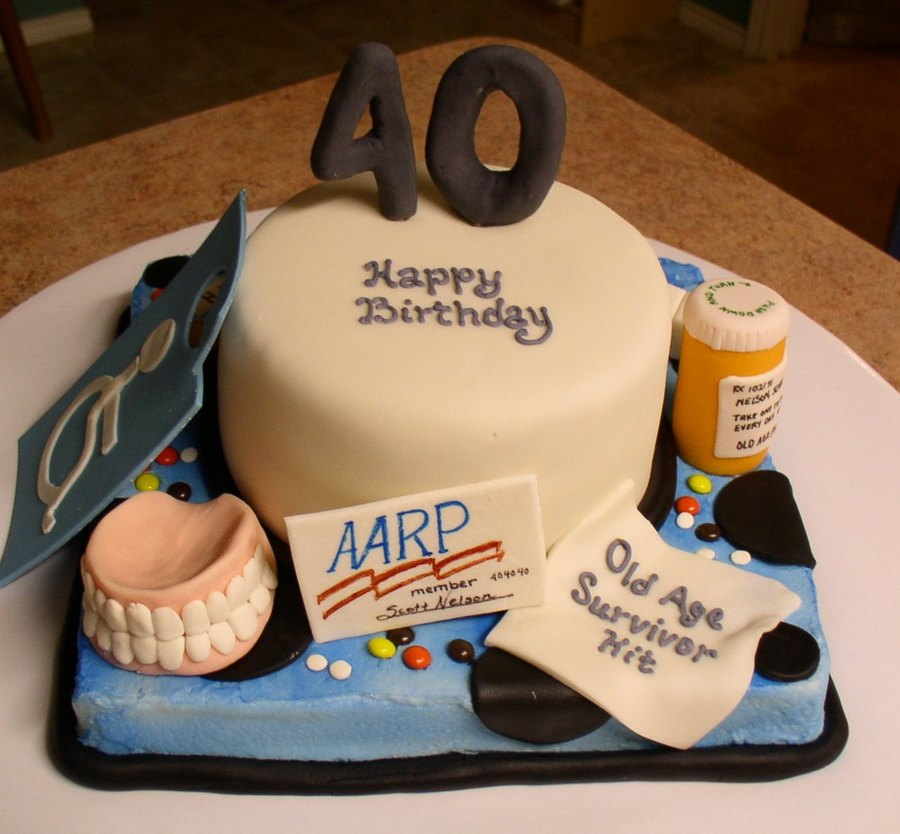 40th Over The Hill Cake Cakecentral