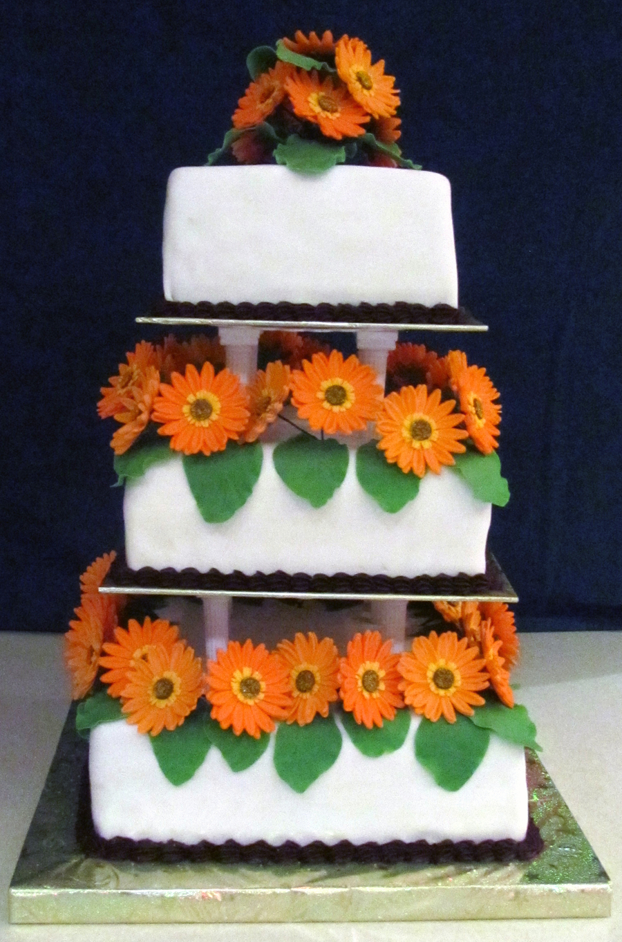 Gerbera Wedding on Cake Central