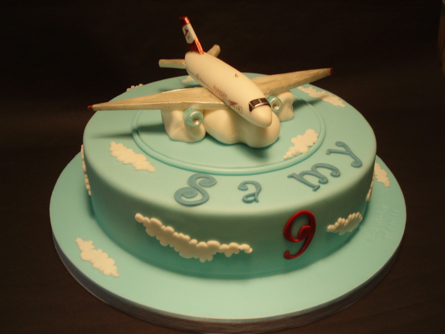 Another Gumpaste Plane For An Austrian Airl Lines Fan on Cake Central