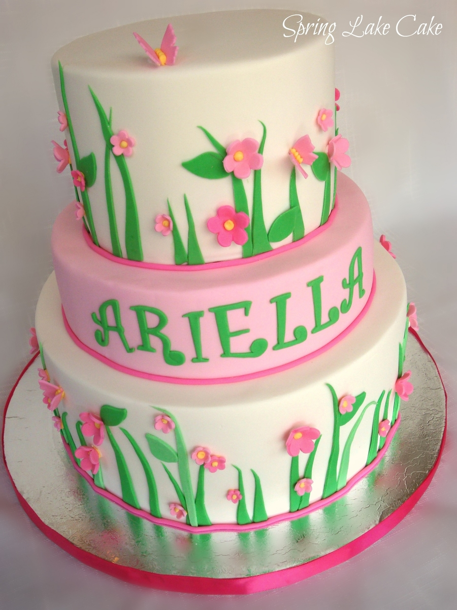 Floral Birthday Cake on Cake Central