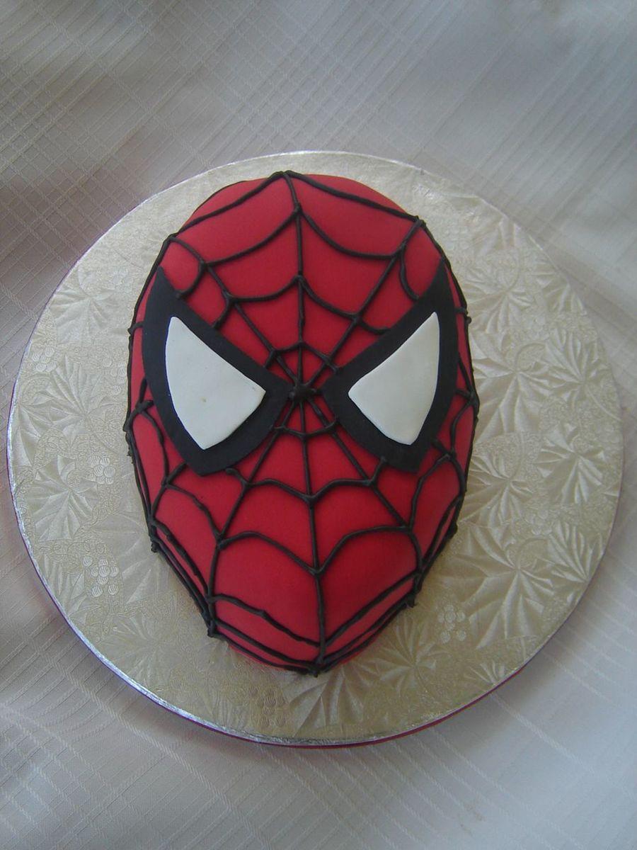 Spiderman Face Cake Design : Spiderman Cake - CakeCentral.com