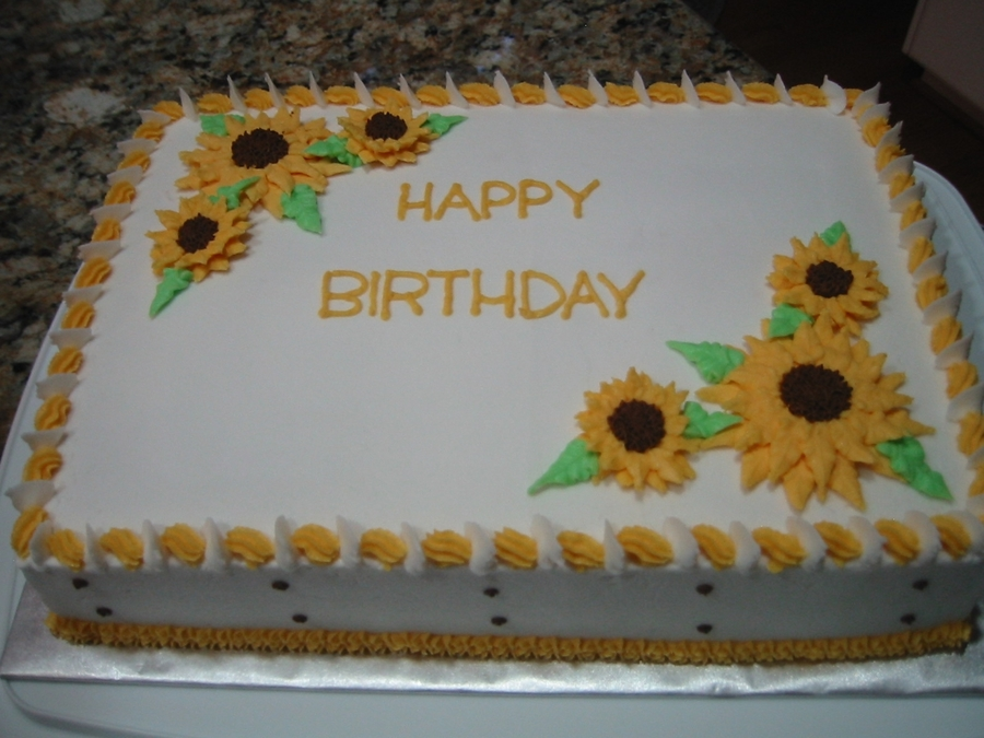 Cake Decorating Buttercream Birthday : Sunflowers - CakeCentral.com