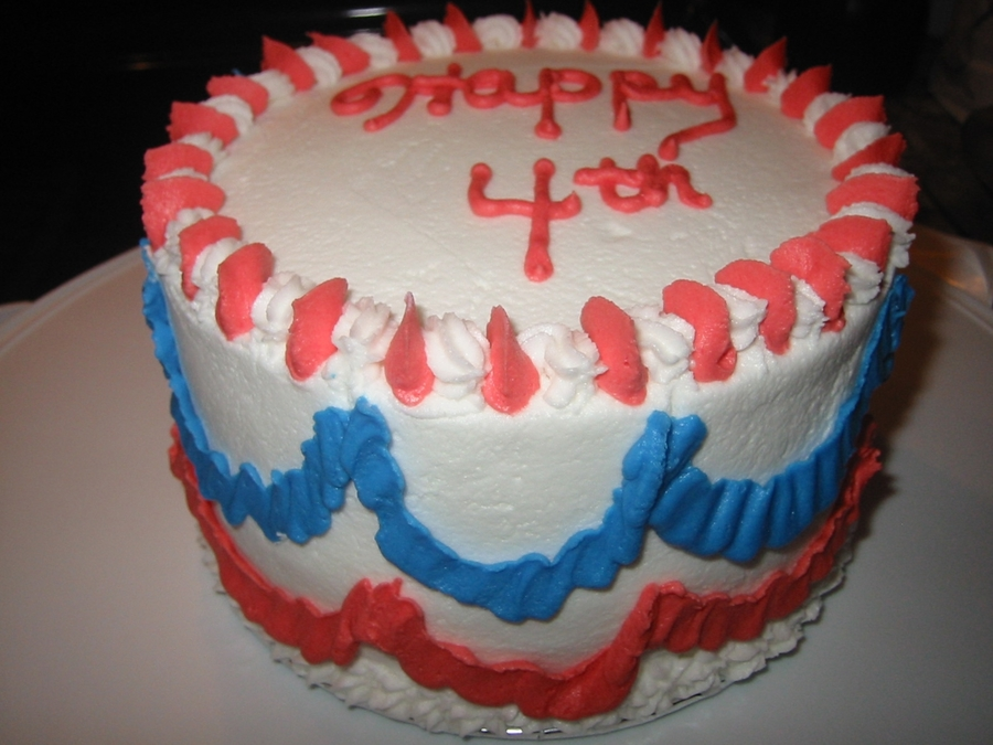 Independence Day Cake on Cake Central