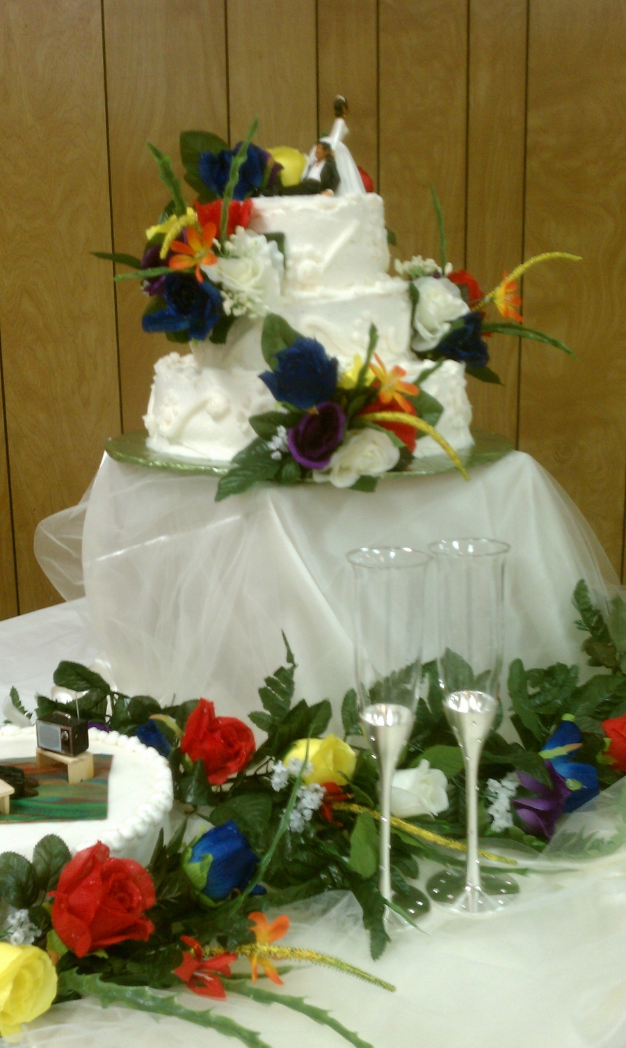Rainbow Wedding on Cake Central