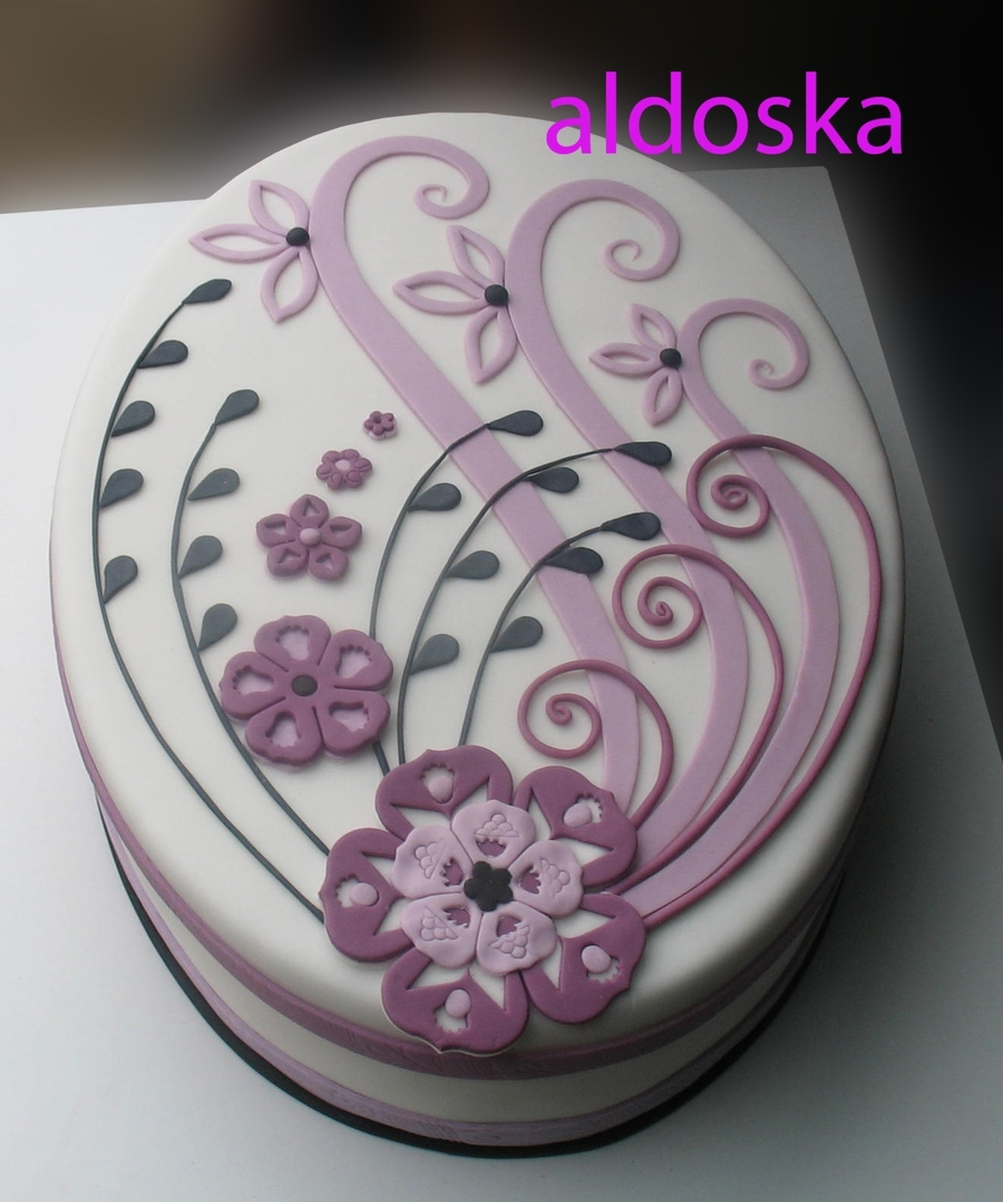 Purple Ornament on Cake Central