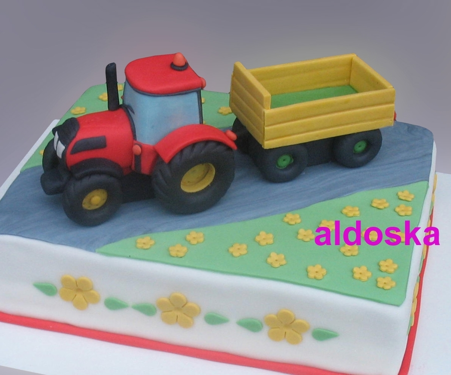 Tractor For Little Girl  on Cake Central
