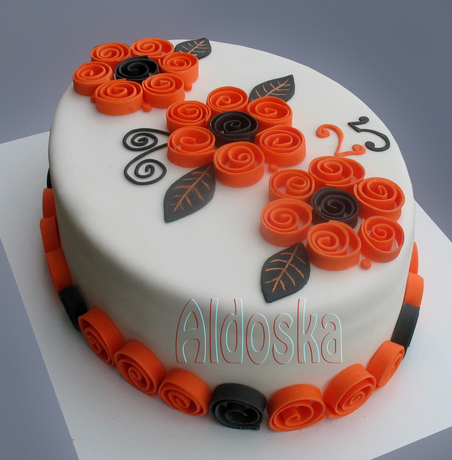Spiral Flowers on Cake Central