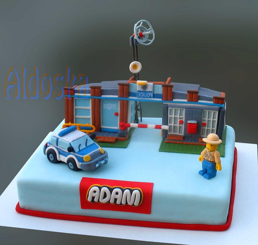 Lego City Police Birthday Cake