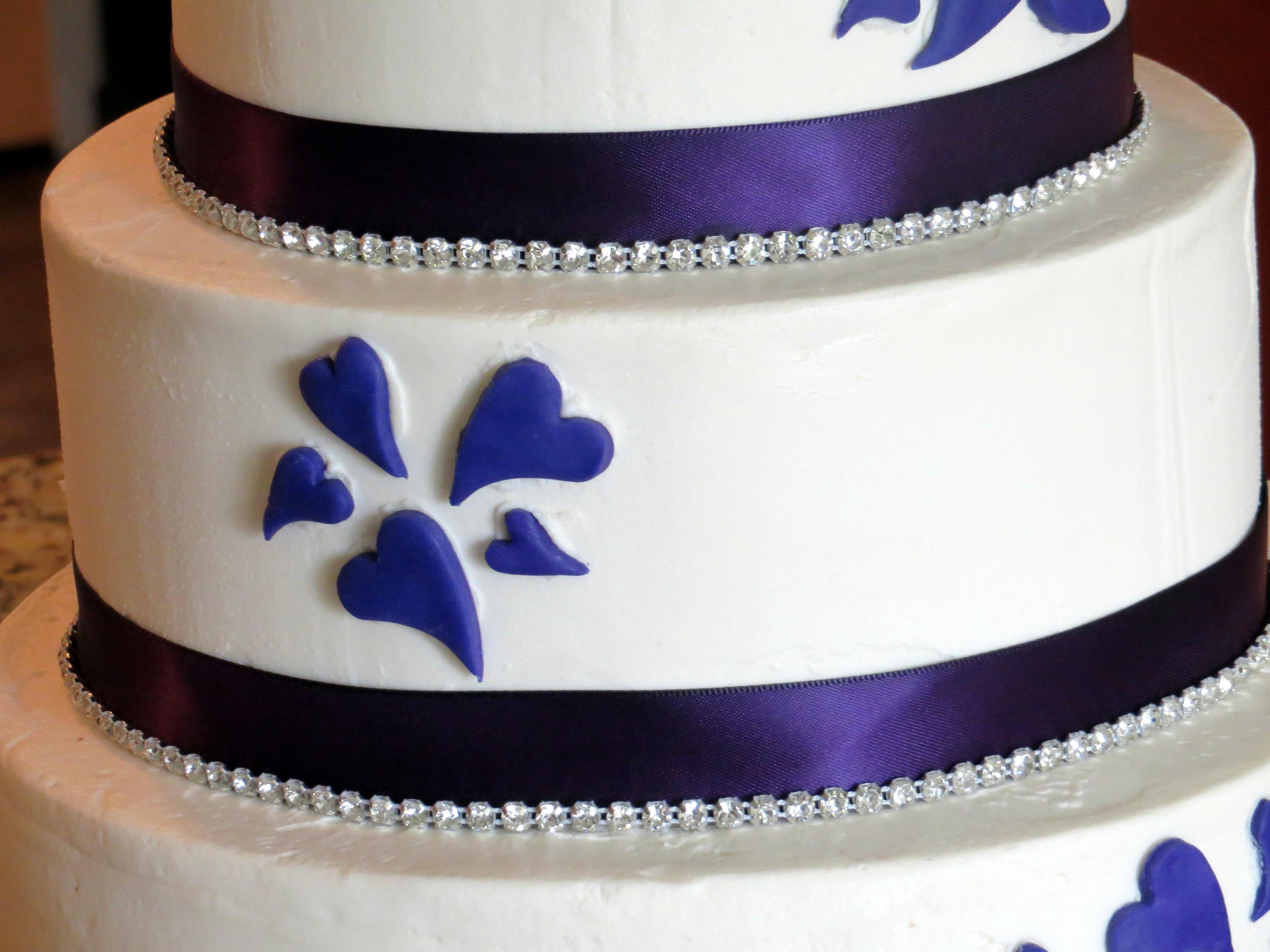Purple Heart Wedding Cake CakeCentral