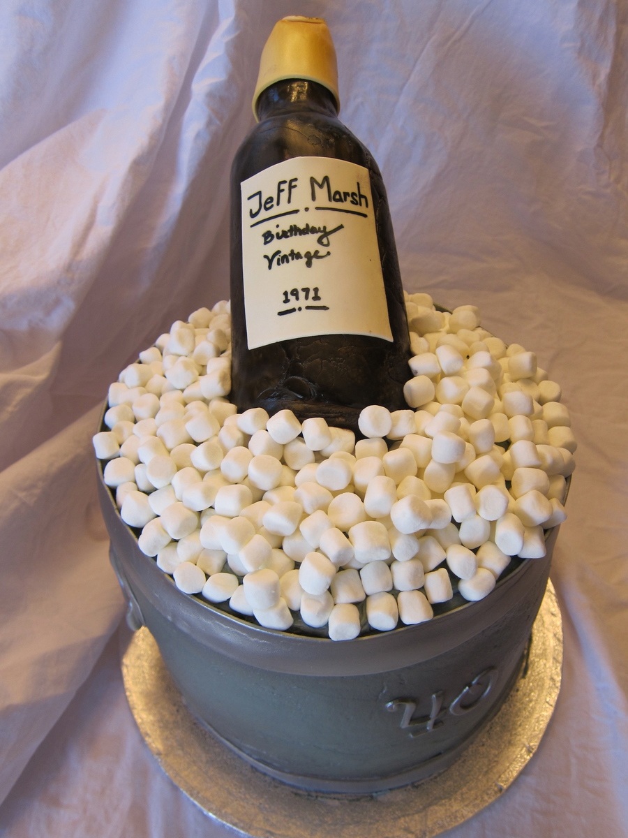 Ice Bucket Cake on Cake Central