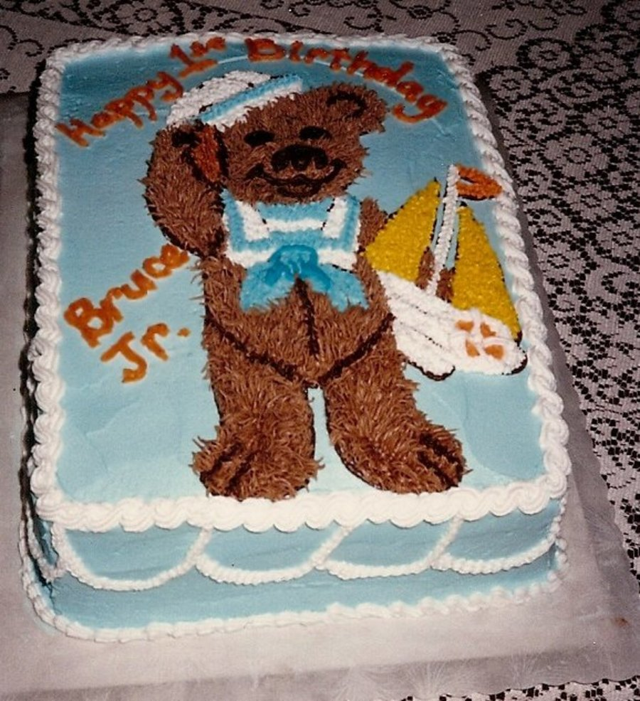 Teddy Bear Birthday Cake on Cake Central