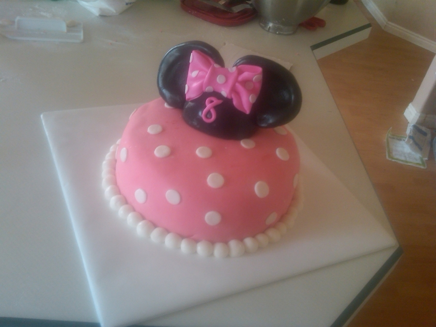 Minnie Mouse Ear Cake  on Cake Central