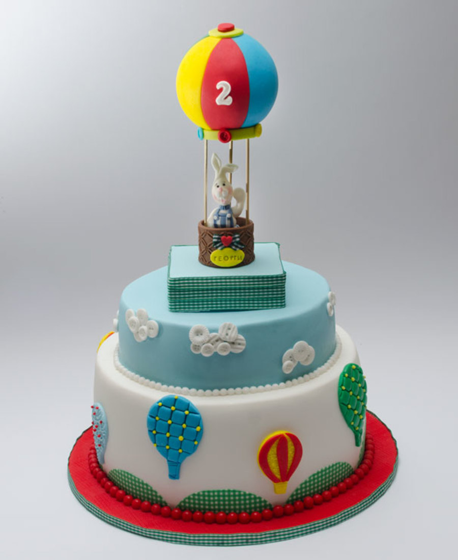 Cake Design Ballarat : Hot Air Balloon Cake - CakeCentral.com